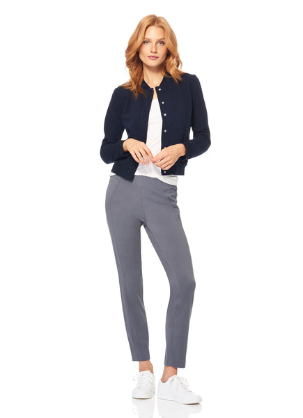 Ecru Castro ponte ankle pant in navy or pebble found at PATRICIA in Southern Pines and Raleigh, NC