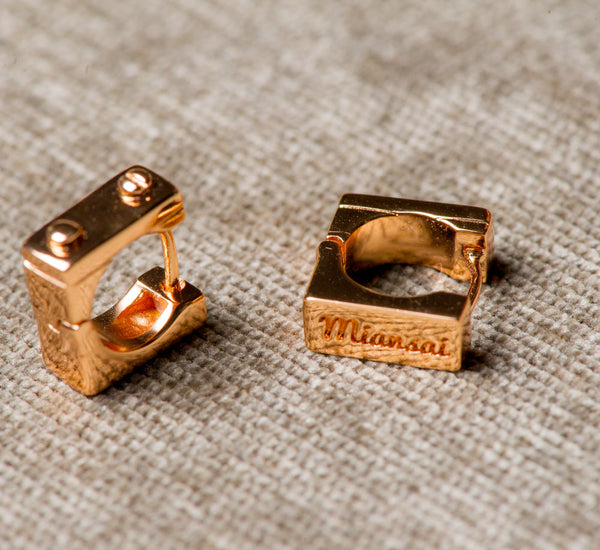 Miansai | Squared Huggie Rose Gold Plated
