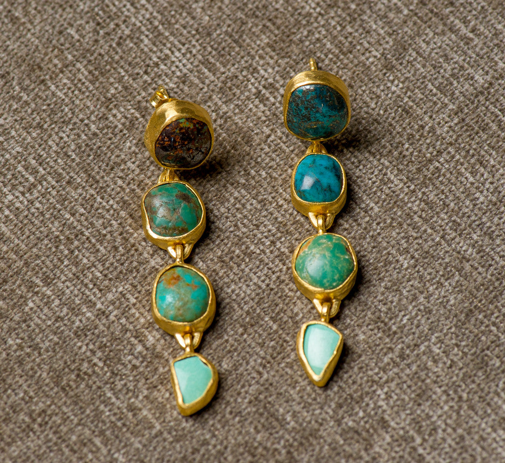 Heather Benjamin | Handmade Turquoise Drop Earrings