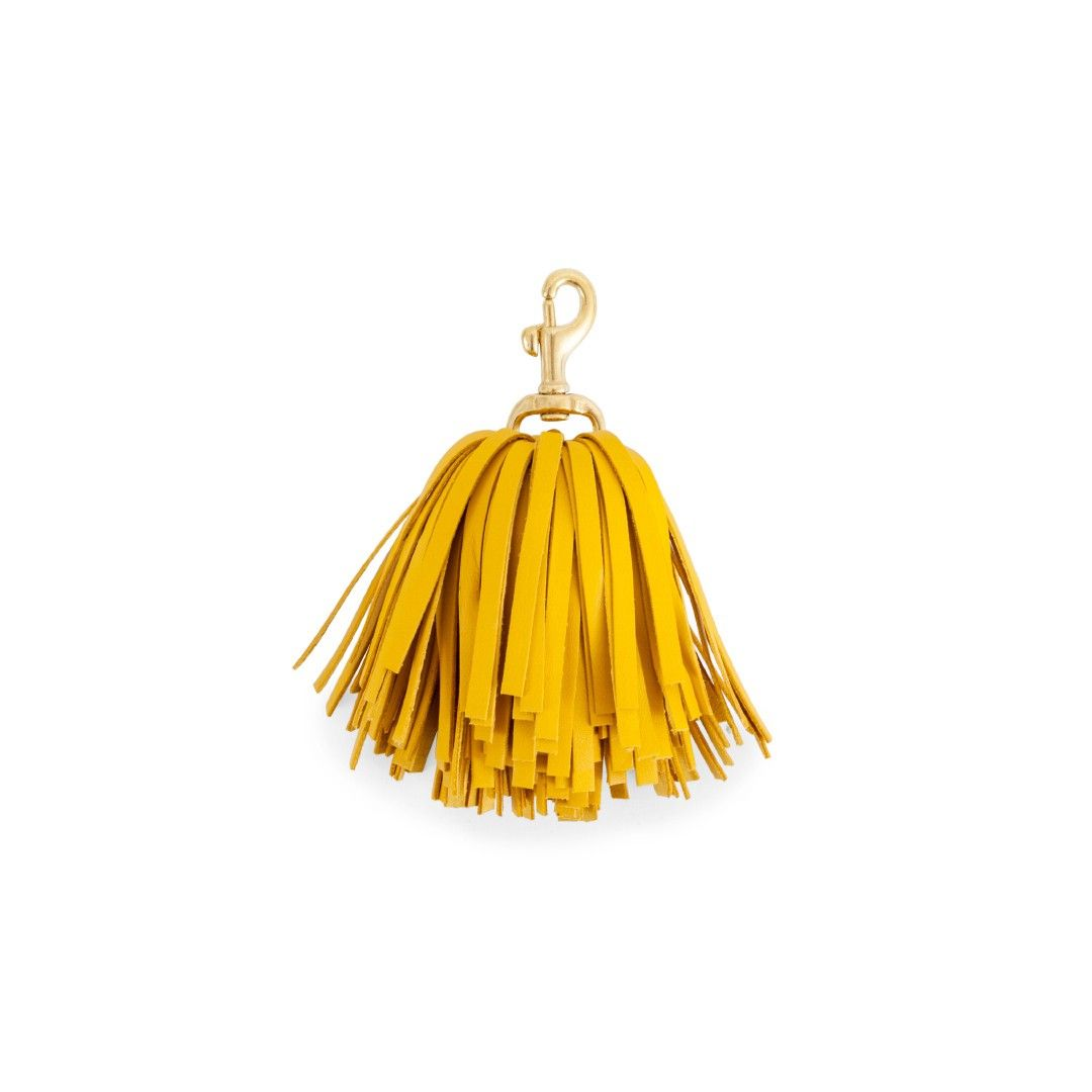 Clare V. Golden Leather Pom Pom
