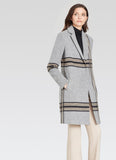 Ecru Heathered Plaid Coat