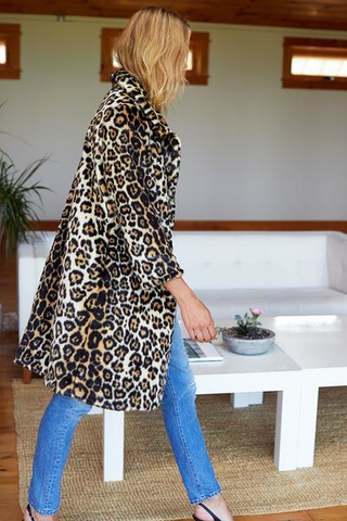 Emerson Fry Vegan Fur Leopard Coat