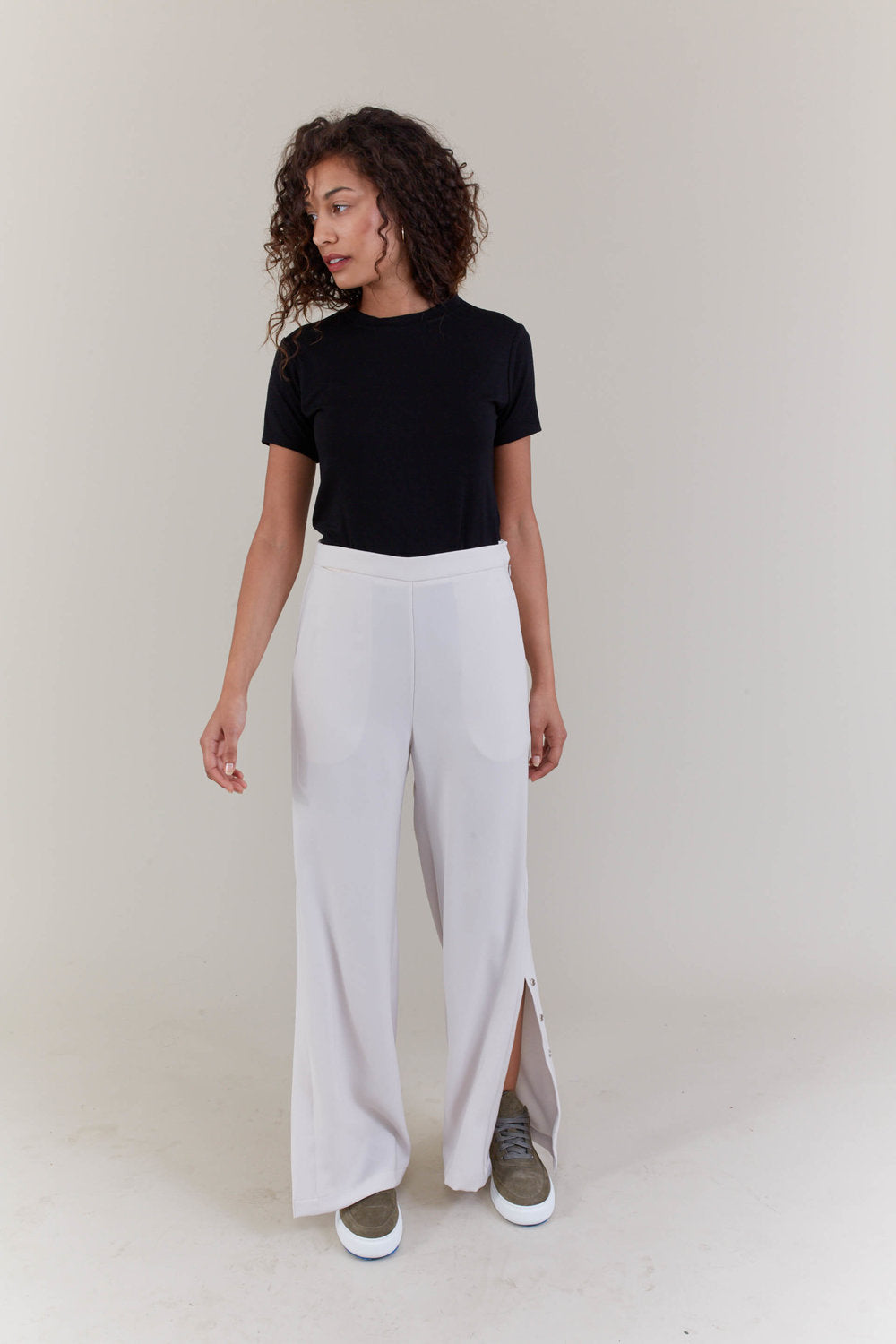 Shosh Ample Slit trouser in navy or bone found at PATRICIA in southern Pines, NC