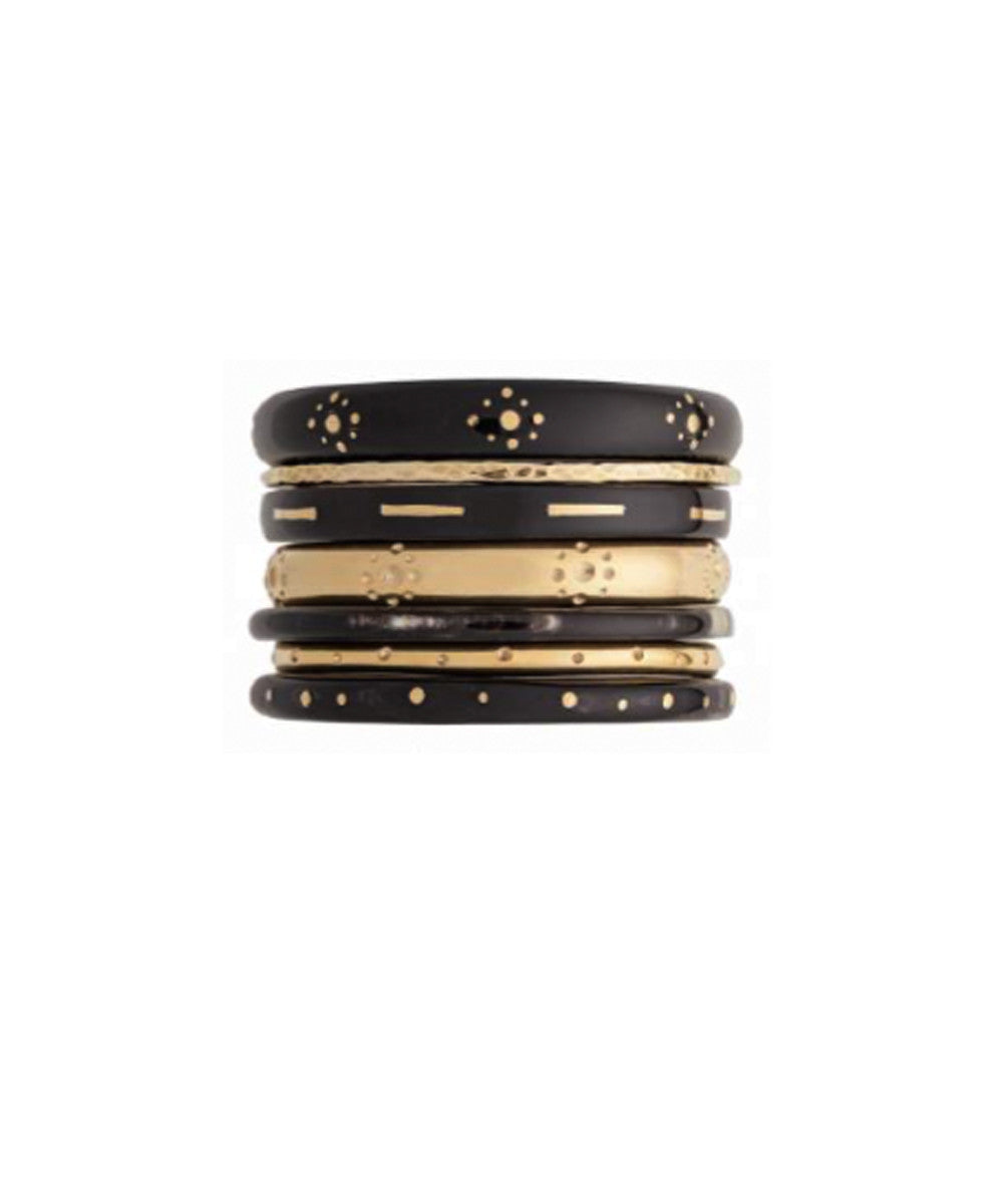 Ashley Pittman Kaimu Bangle Set in Dark Horn
