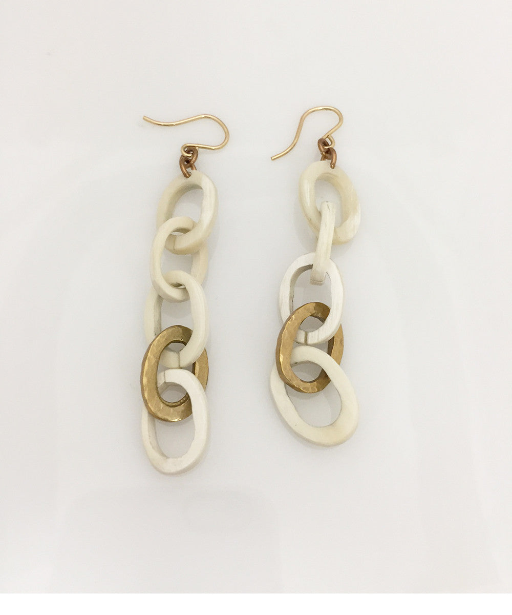 Ashley Pittman Mara Earring Light Horn