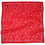 Squar'd Away The Amulet Scarf Red and White