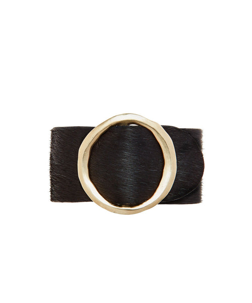Julie Cohn Eclipse Buckle on Black Hair On Hide