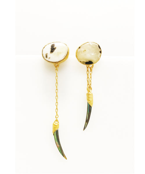 Heather Benjamin Black & White Shell Earrings