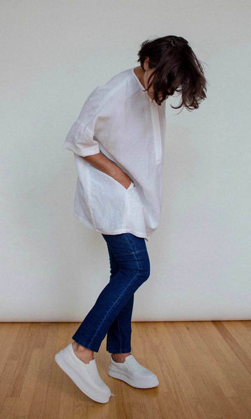Shosh Linen Blend Big Pocket Tunic