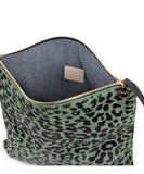 Clare V. Agave Leopard Foldover Clutch