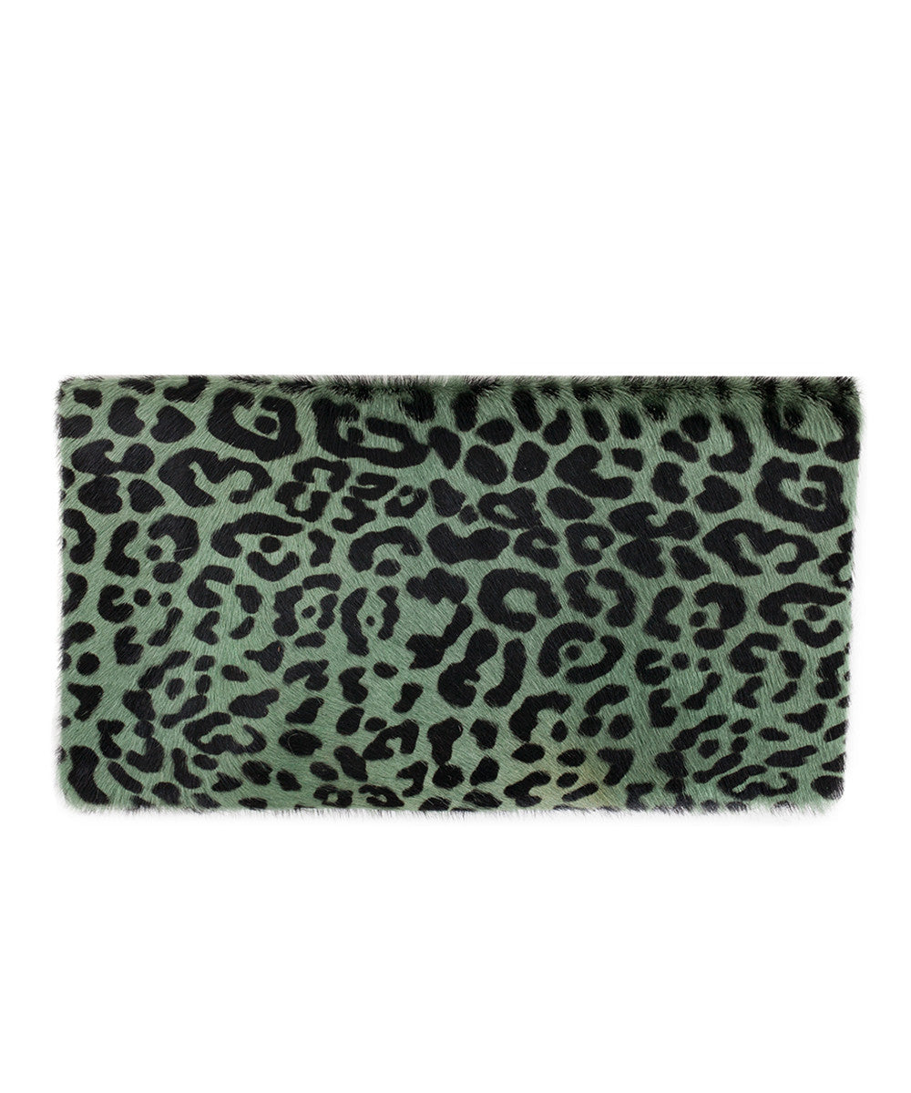 Clare V. Agave Leopard Foldover Clutch available at PATRICIA