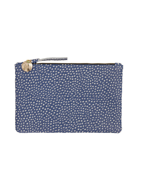 Clare V. Wallet Clutch Blue Dapple