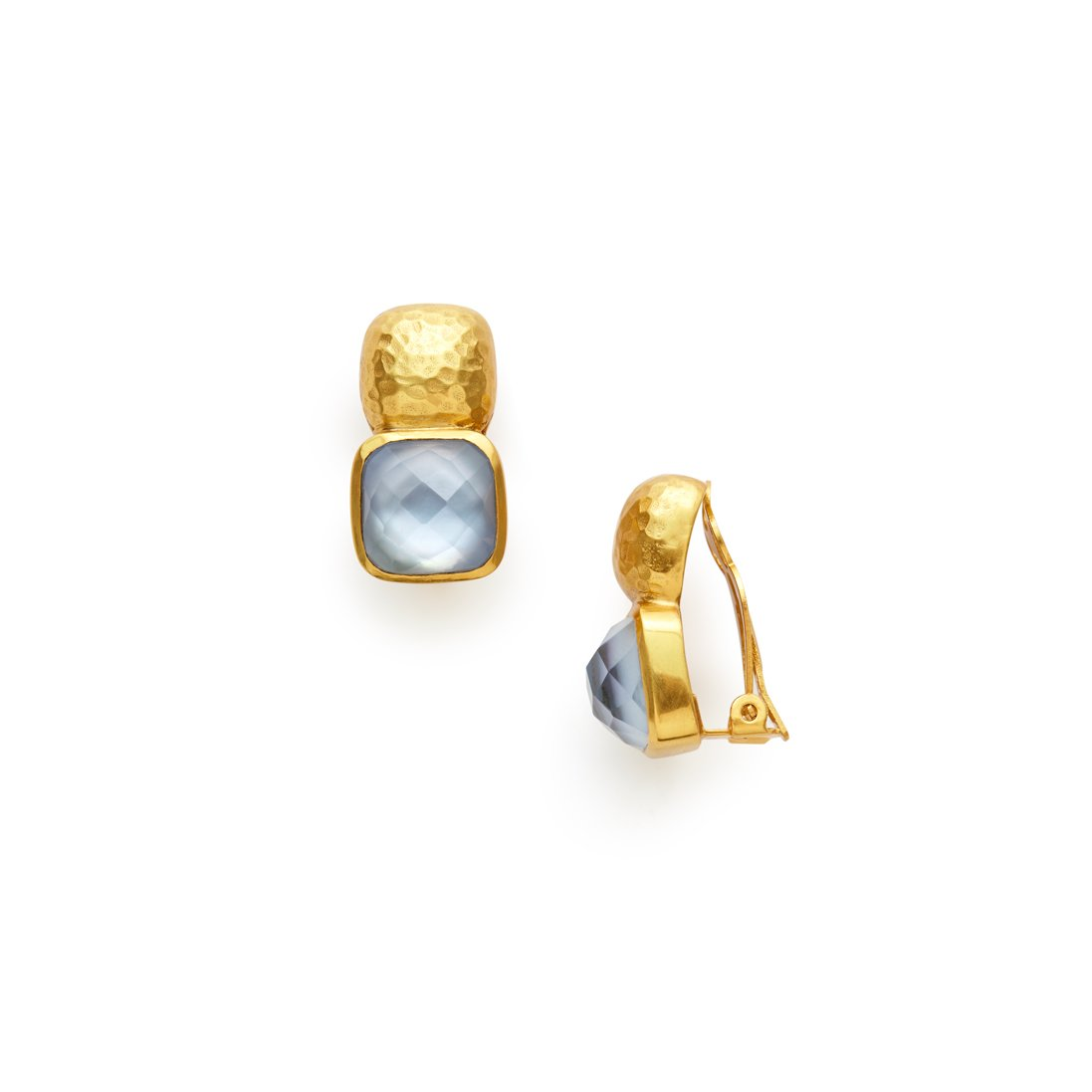Catalina Earring with Iridescent Chalcedony