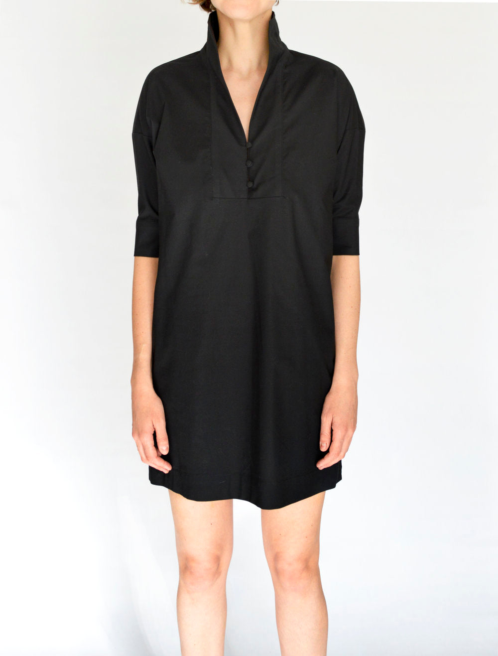 Kallmeyer Mockneck Dress in Black