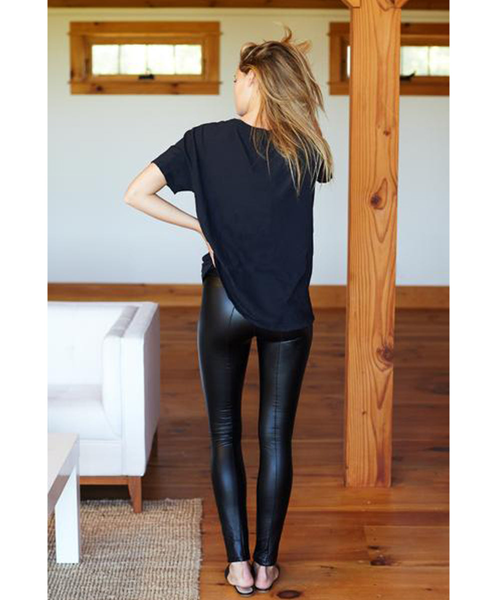Emerson Vegan Leather Leggings