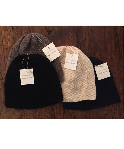 English Weather | Hand Knit Cashmere Hat