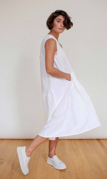 Shosh White Linen Easy Dress