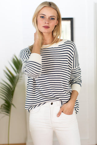 Emerson Fry Carolyn Sweater Navy Stripe