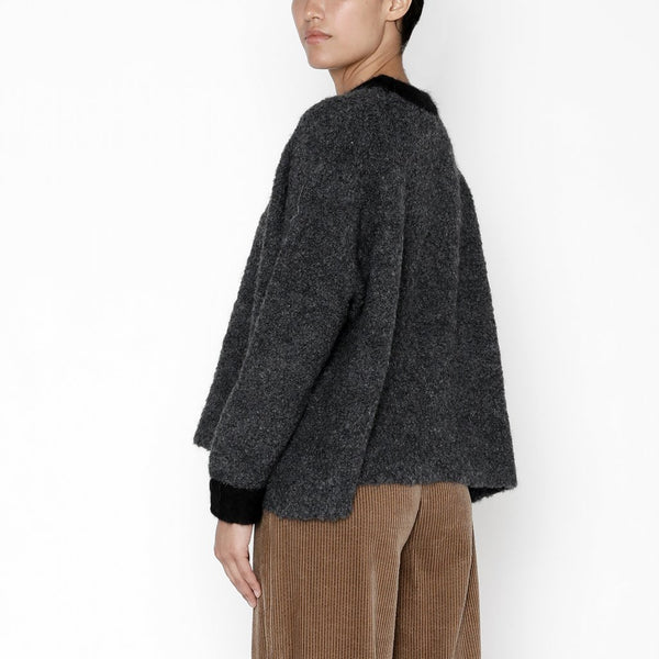 7115 by Szeki Classic Charcoal Crewneck Sweater