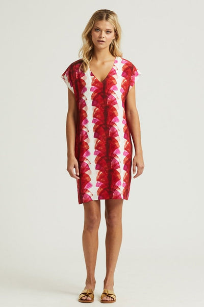 Marie Oliver Hot Red Fan Andi Dress