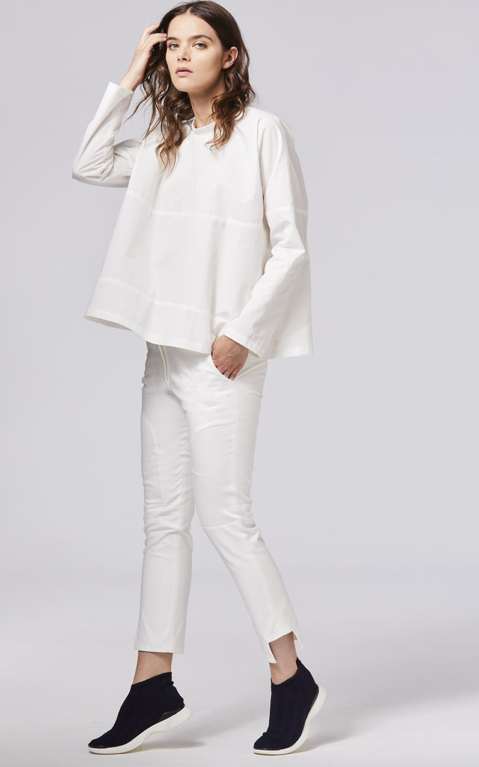Shosh fitted pant in white