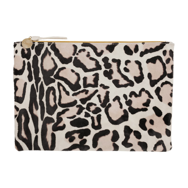 Clare V. Snow Cat Hair-On Wallet Clutch