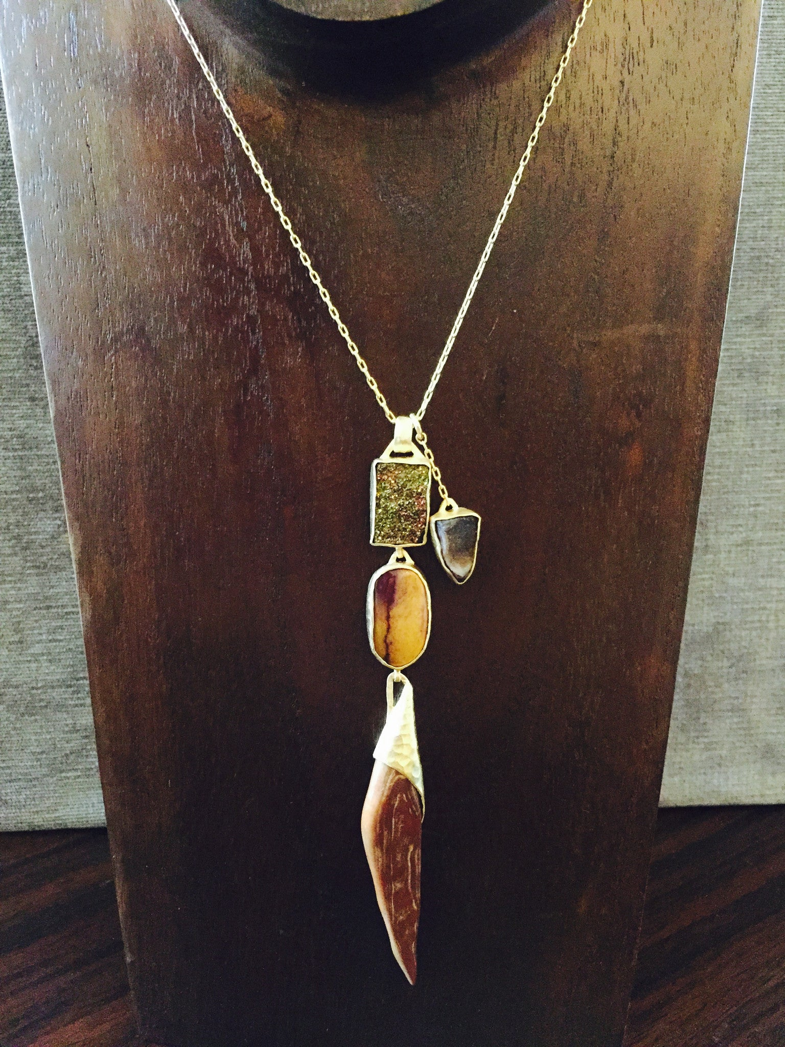 Heather Benjamin | Botswana Agate Necklace
