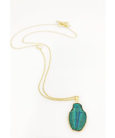 Heather Benjamin Fossilized Trilobite Necklace