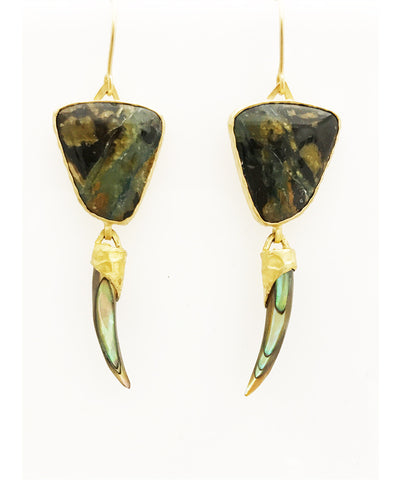 Heather Benjamin Handmade Ocean Jasper Earring