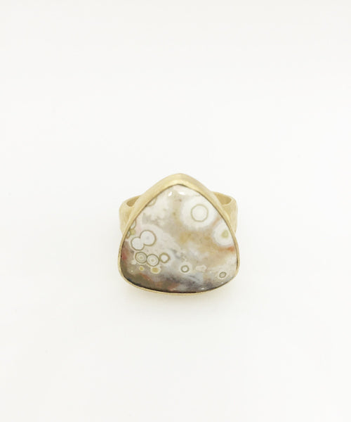 Heather Benjamin | Triangular Ocean Jasper Ring
