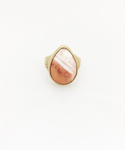 Heather Benjamin | Handmade Peach Mexican Opal Ring