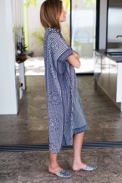 Emerson Fry Caftan Ink Organic Long