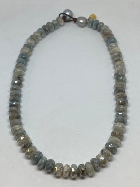 faceted moonstone necklace by Perle by Lola found at PATRICIA in southern pines, nc