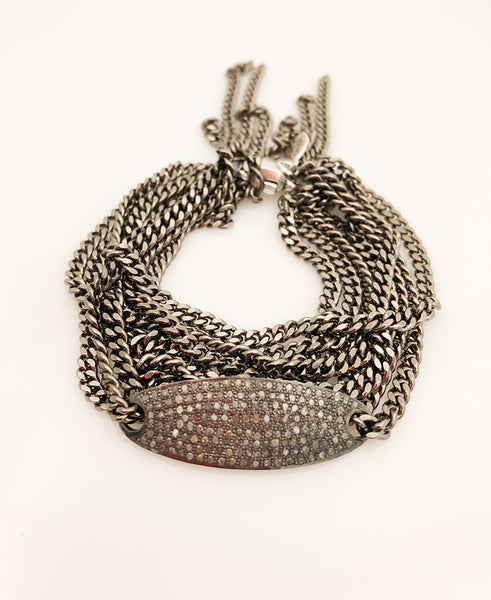 Bracelet with Chain Diamond Pavé Section