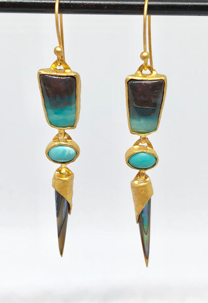 Heather Benjamin Peruvian Opal Earrings