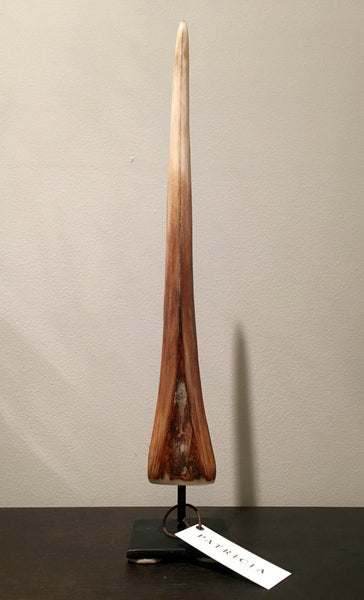 Carved Bone Swordfish Bill on Stand