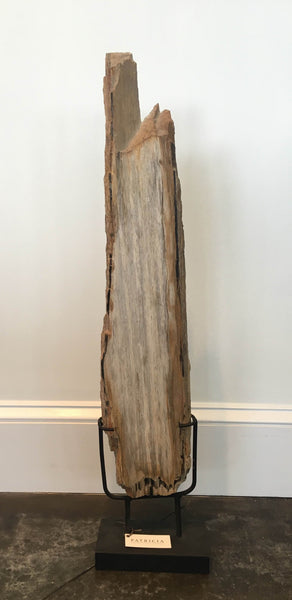 Rectangular Slab of Petrified Wood on Stand - Small