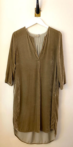 CP Shades Halle Taupe Velvet Dress