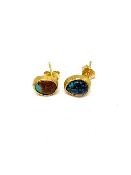 Heather Benjamin Small Round Turquoise Studs