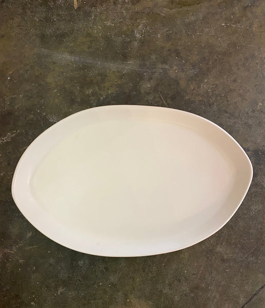 "HAAND 15"" Oval Platter in White"