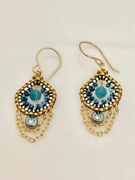 Miguel Ases Blue Quartz  Earrings