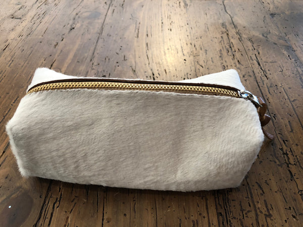 Cowhide Cosmetic Bag