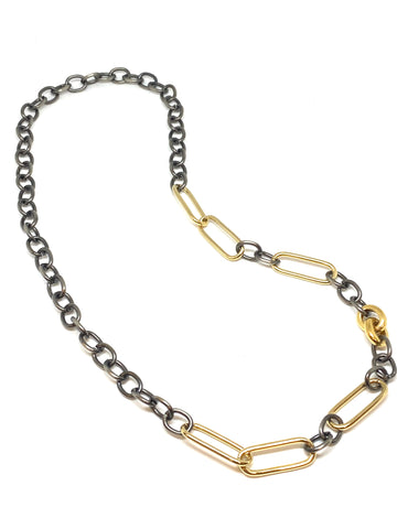 Nathan & Moe Two Tone Chain with Double Clasps