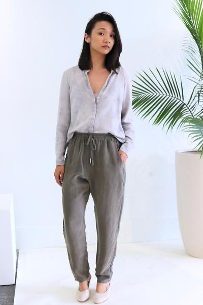 Natalie Busby Relaxed Traveling Pant in black and Sapphire found at Patricia in Southern Pines, NC