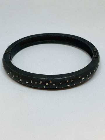 Nathan & Moe Curved Bracelet with Diamonds