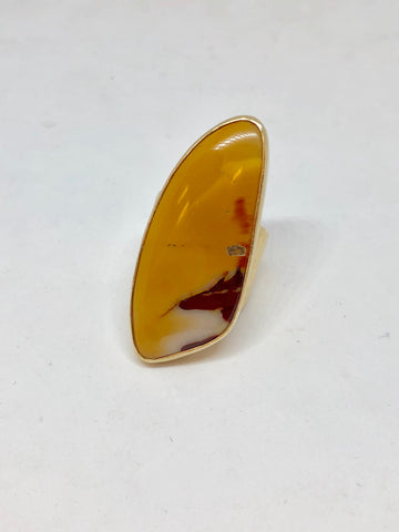 Heather Benjamin Mustard Sunset Mookite Ring