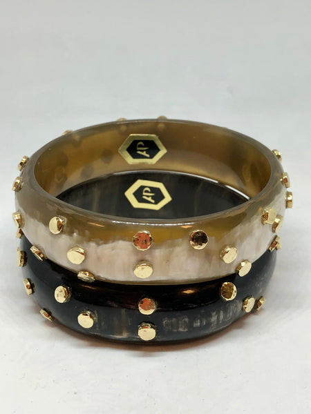 Ashley Pittman Chungwa Bangle in Dark Horn