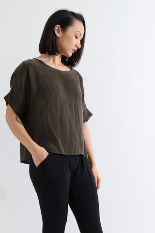 Natalie Busby Olive Cupro T-Shirt