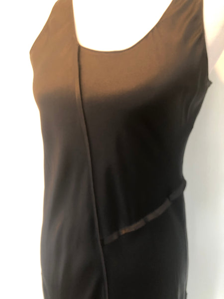Acrobat Raw Seam Silk Tank Dress