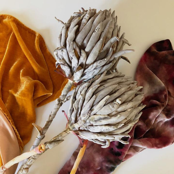 Rise & Ramble Hand-dyed Velvet Scarf in Tumeric